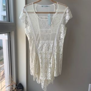 🎃 Lace tunic top size large